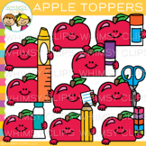 Cute Apple Page Toppers Clip Art
