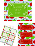 Cute Apple print Classroom Signs, Hall passes, and Labels