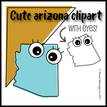 Cute Arizona Clipart with Eyes!