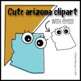 Cute Arizona Clipart with Eyes!
