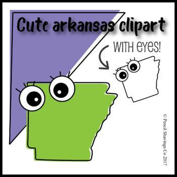Cute Arkansas Clipart with Eyes!
