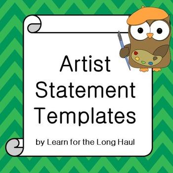 Artist Statement Templates