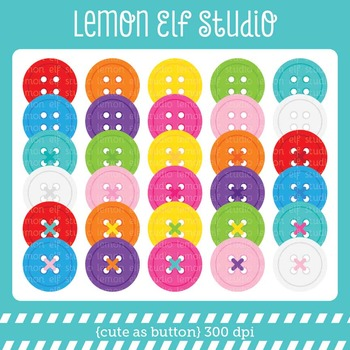 Cute As Button-Digital Clipart (LES.CL28)