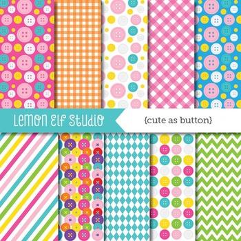 Cute As Button-Digital Paper (LES.DP28)