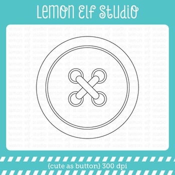 Cute As Button-Digital Stamp (LES.DS28)
