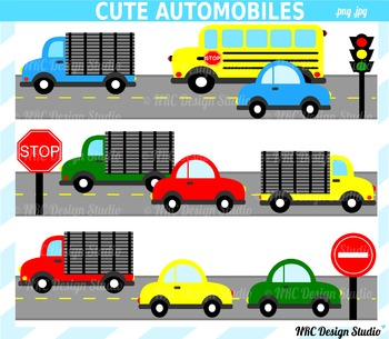 Cute Automobiles Clip Art for Personal and Commercial Use