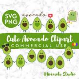 Cute Avocado SVG Clipart Pack