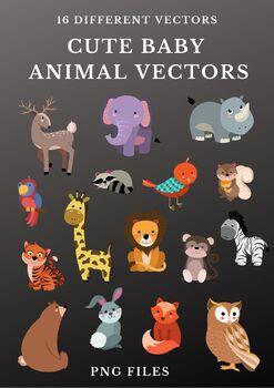 Cute Baby Animal Vectors