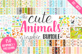 80% OFF Cute Baby Animals Clip art Graphics and Digital Pa