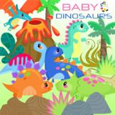 Cute Baby Dinosaur ClipArt