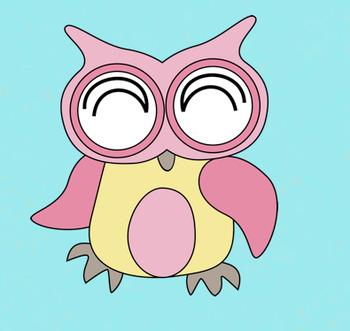 Cute Baby Owls Clip Art