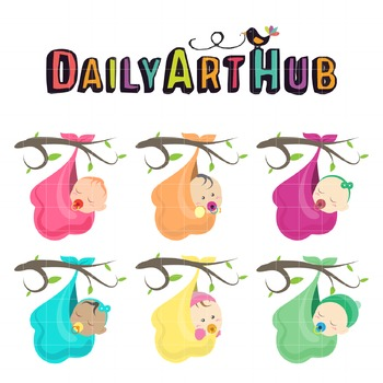 Cute Baby on Branch Clip Art - Great for Art Class Projects!