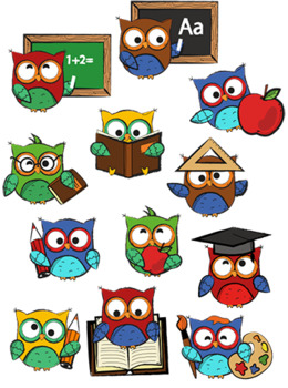 Back to school owl. Owls clipart