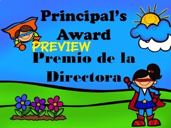 Cute Background Slides for Award Assemblies - English & Spanish
