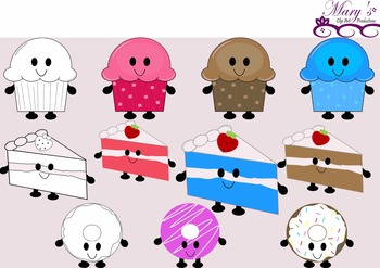 Cute Bakery Sweets! Clip Art