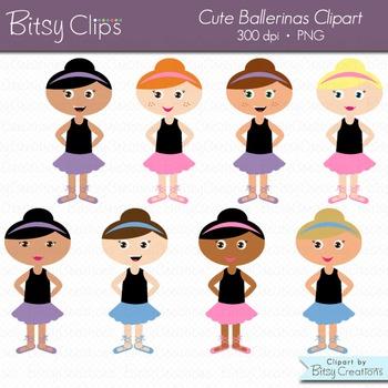 Cute Ballerinas Clipart Commercial Use Clip Art