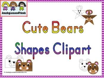 Cute Bear Shape Clipart