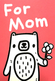 Cute Bear-Themed Mother's Day Card Craft Activity