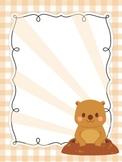 Cute Bear/Groundhog Frame/Border