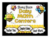 Math Center Automated Rotation Editable Powerpoint  Bee Themed