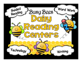 Reading Center Rotations Editable Powerpoint Bee Themed