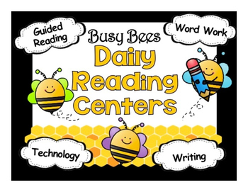 Cute Bee Themed Reading Automated Rotation Powerpoint w/ 4