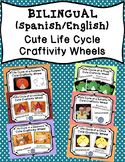 Cute Bilingual Life Cycle Craftivity Wheels {The Bundle}