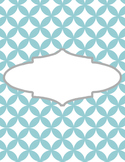 Cute Binder Template Pages - Blue Circle/Diamond