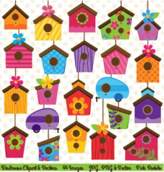 Cute Birdhouse Clipart Clip Art