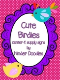 Cute Birdies Center & Supply Signs