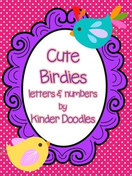 Cute Birdies  Letters & Numbers