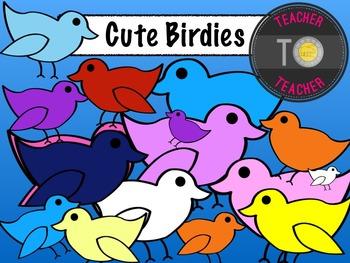 Cute Birdies {TeacherToTeacher Clipart}