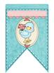 Cute Birds Alphabet Blue Bunting Banners