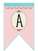Cute Birds Alphabet Pink Bunting Banners
