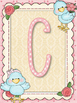 Cute Birds Beige Alphabet Posters