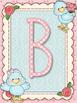 Cute Birds Blue Alphabet Posters