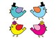 Cute Birds Bulletin Board Set / Classroom Welcome Door Decoration - Printables