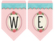 Cute Birds Bunting Banner Welcome-Classroom Decor