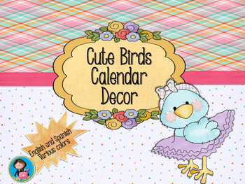 Cute Birds Calendar Decor Bundle
