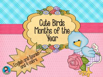 Cute Birds Calendar Month of the Year decor