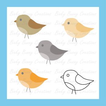 Birds Clip Art Spring Clipart 10 Colors