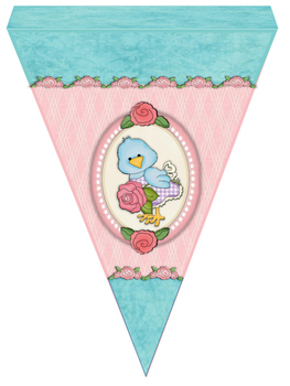 Cute Birds Large Welcome Bunting Flags