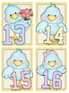 Cute Birds Numbers Cards 1-20