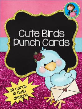 Cute Birds Punch Cards