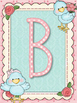 Cute Birds Teal Alphabet Posters