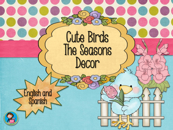 Cute Birds The Seasons decor