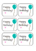 Cute Birthday Tags