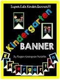 Cute Black and Bright Kindergarten Banner