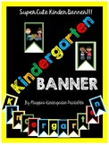 Cute Black and Bright Kindergarten Banner
