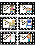 Cute Black and White Polka Dot Classroom Jobs